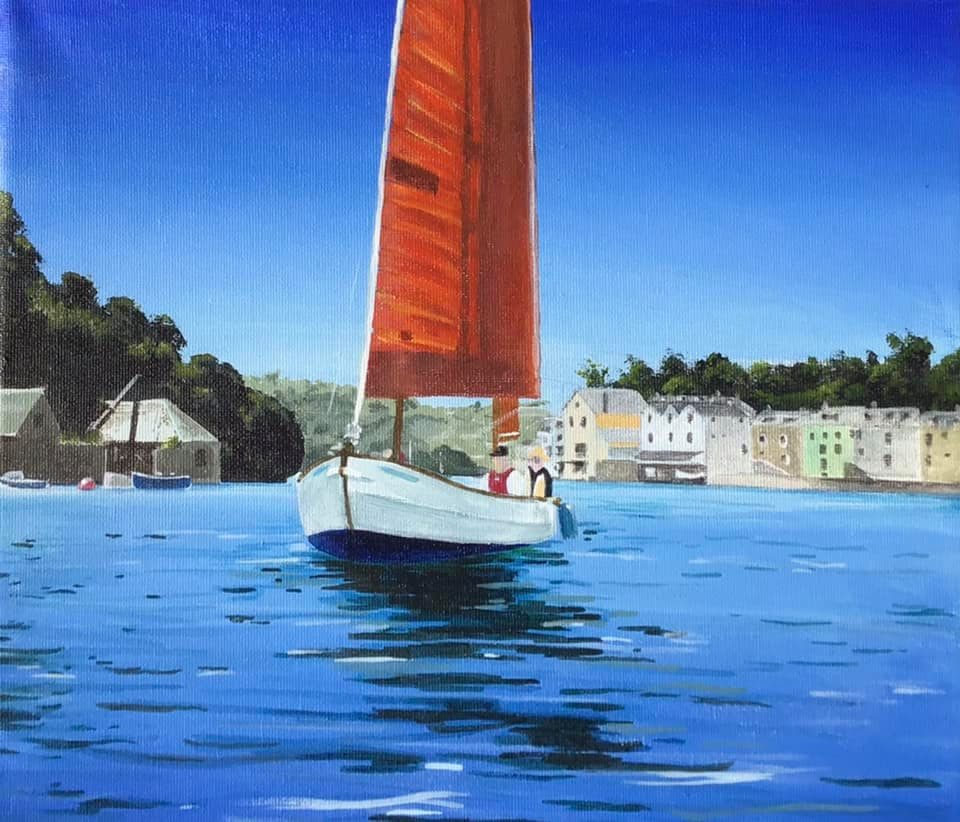 River Fowey Acrylic painting