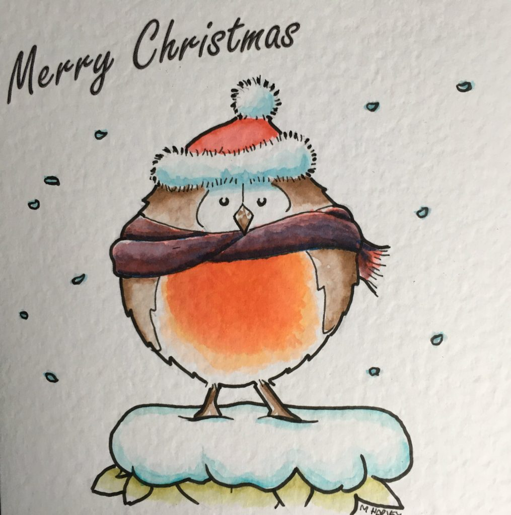 Xmas Robin card